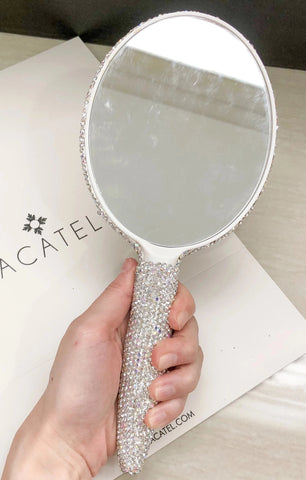 Studded Handheld Mirror