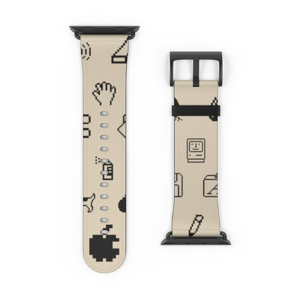 Beige Retro Mac Icons Apple Watch Band