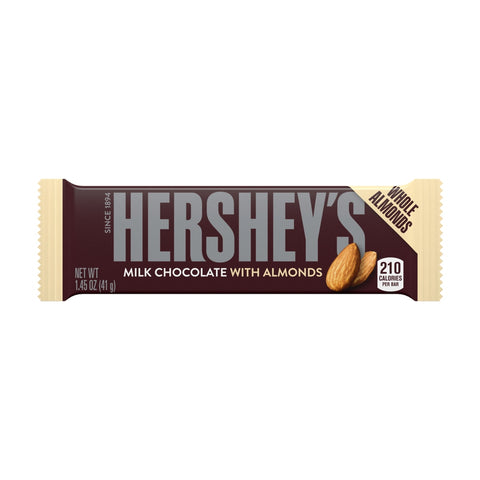 Hershey Milk Chocolate with Almonds bar 40gr