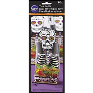 Wilton Treat Bag Kit Skeleton 6ct