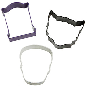 Wilton Halloween Cookie Cutter (rip,skull,wolf)