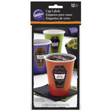 Wilton Halloween Drink Stickers 12 pk