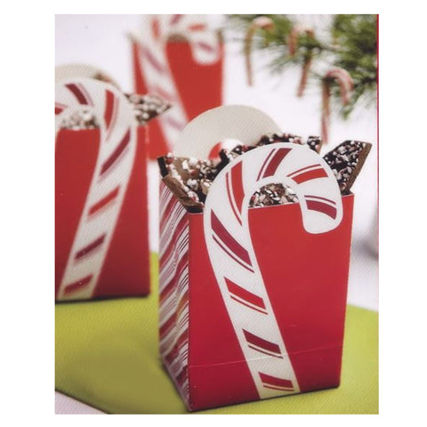 wilton Christmas Treat Boxes Peppermint Handled 4pcs