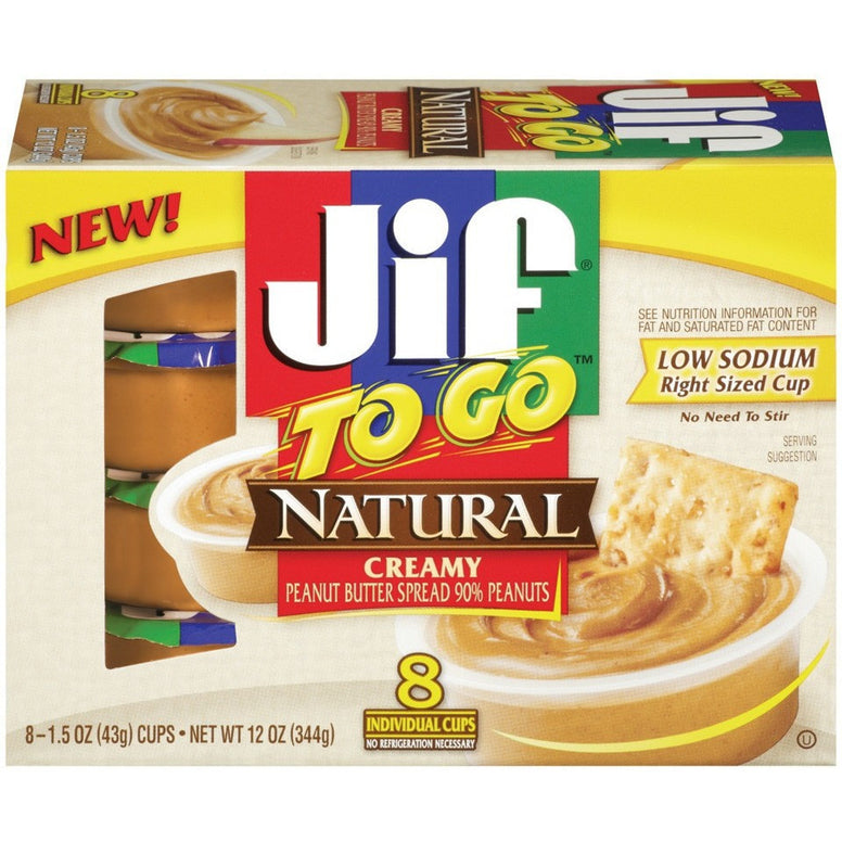 Jif Natural Creamy Peanut Butter TO GO (344gr)