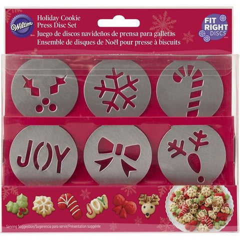 Wilton Preferred Plus Christmas Disc Set 6pcs