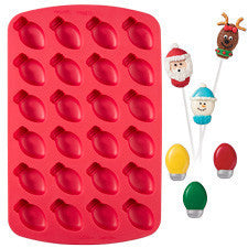 Wilton 24-Cavity Light Bulb Silicone Bite Sized Treat Mold