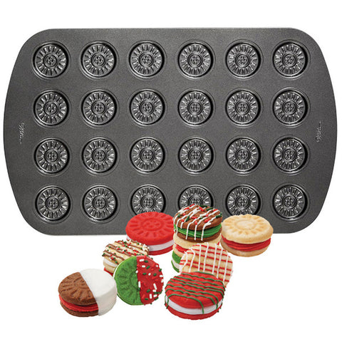 wilton 24-CAVITY SANDWICH COOKIE PAN