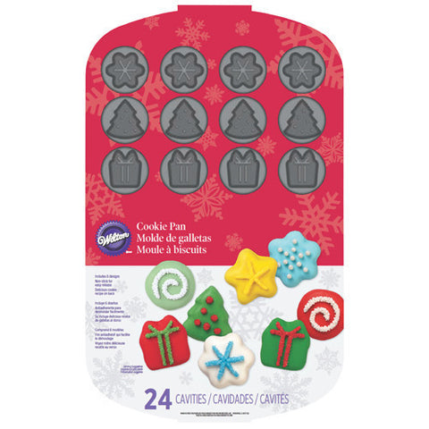 Wilton Cookie Pan Christmas 24 Cav