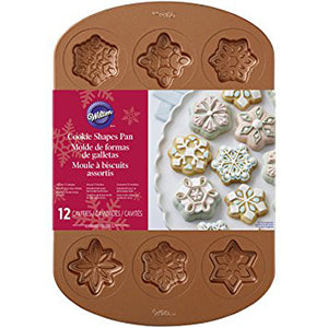 wilton COPPER SNOWFLAKE COOKIE PAN