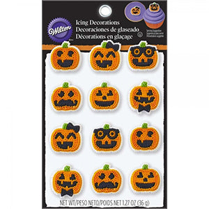 Wilton Pumpkin Funny Icing Decoration 36gr