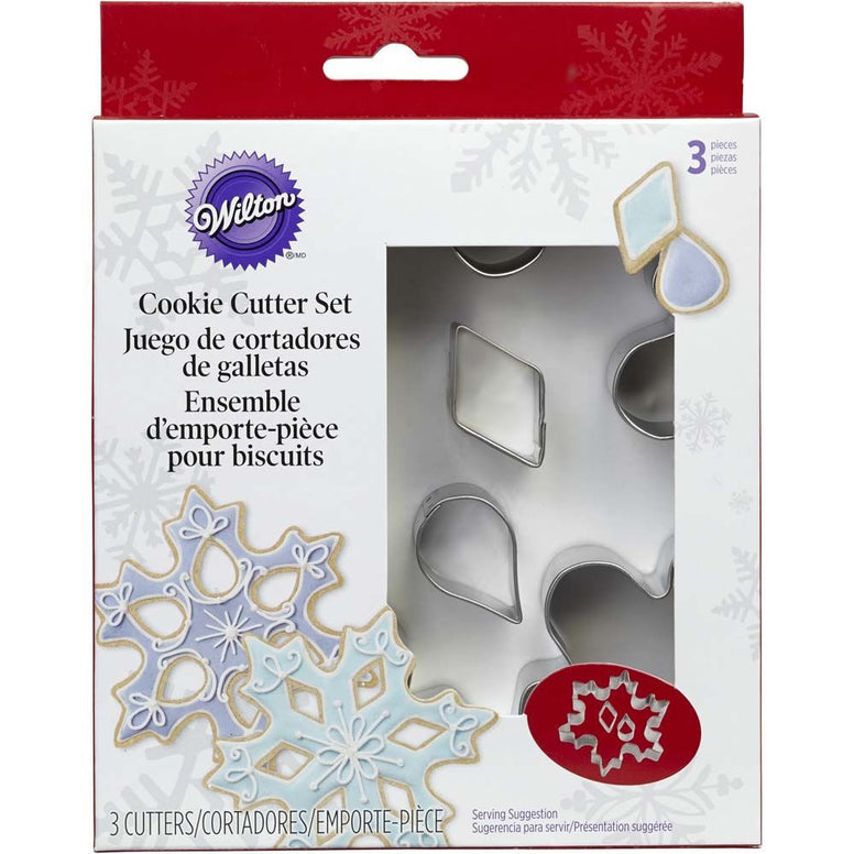 Wilton Cookie Cutter Set Snowflake 3pcs