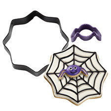 Wilton 2-Pc. Mini Spider With Spider Web Colored Metal Cookie Cutter Set
