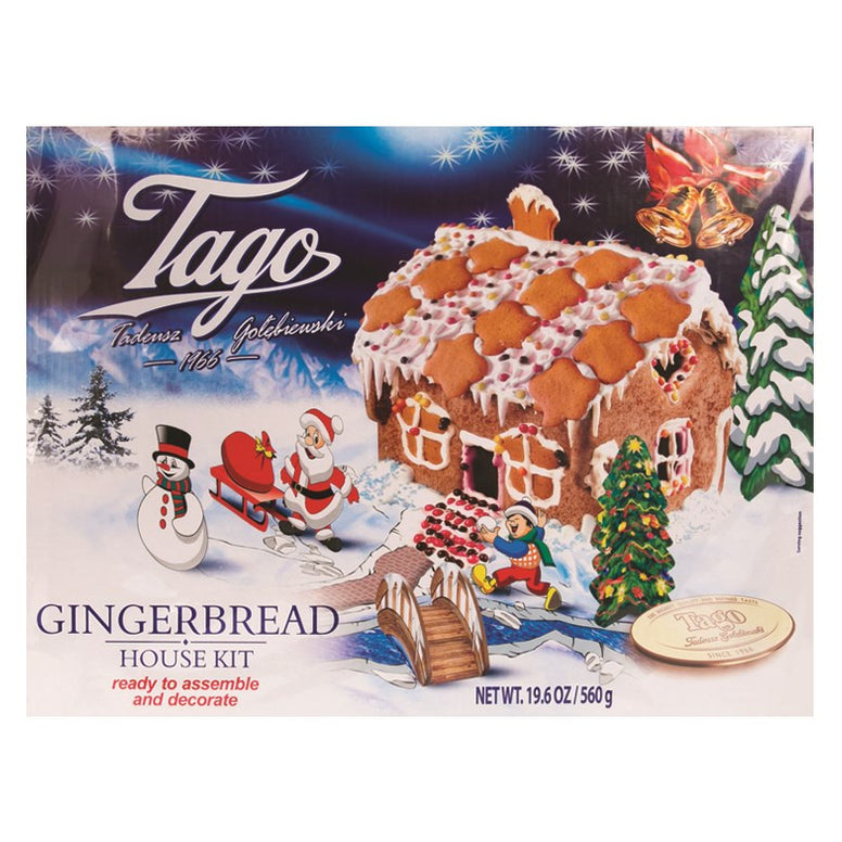 Tago Gingerbread House Kit 560gr (Ready To assemble)