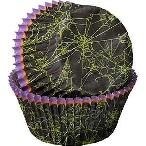 Wilton Halloween Baking Cup Spider Web 75pcs