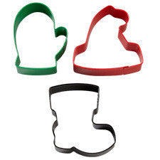 Wilton 3-Pc. Winterwear Metal Colored Cookie Cutter Set