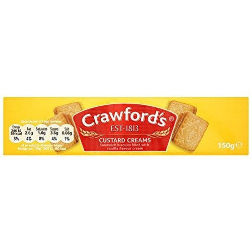 Crawford Custard Creams 150gr (UK)