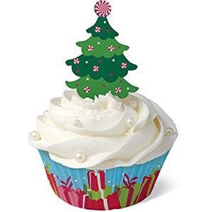 wilton baking cup kit christmas tree 24ct