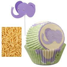 Wilton Elephant Cupcake Decorating Kit, 48 Ct