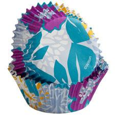 Wilton Colorful Flowers on Periwinkle ColorCups Standard-Sized Baking Cups, 36 Ct.