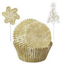 Wilton® Christmas Sparkle and Cheer Cupcake Combo Baking Cups and Picks
