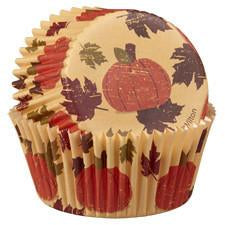 Wilton Autumn Pumpkin Baking Cups, 50 Ct.