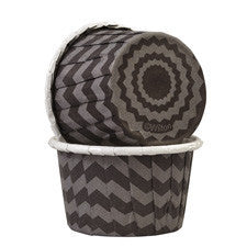 Wilton Black Chevron Nut Cup 24 packs