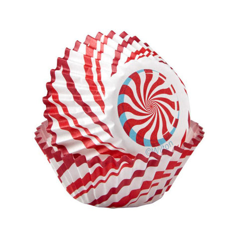 wilton mini candy cane baking cup 100ct