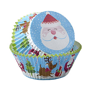 wilton baking cup santa snow 75ct