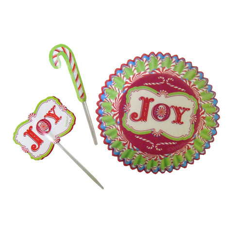 wilton HOLIDAY JOY CUPCAKE DECORATING KIT