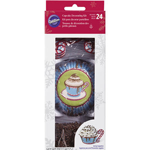 wilton cupcake deco kit cocoa mint 24pcs