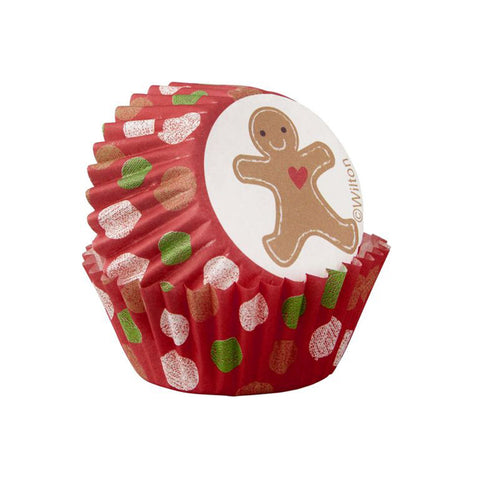 wilton gingerbread boy mini baking cup 100ct