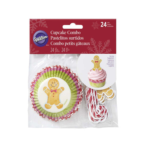 wilton GINGERBREAD MAN CUPCAKE DECORATING KIT