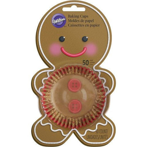 Wilton Gingerbread Boy Baking Cup 50ct