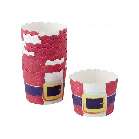 Wilton Baking cup santa belt 12ct