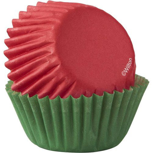 Wilton Red & Green Mini Baking Cup 100ct