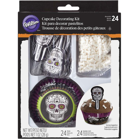 Wilton Skeleton cupcake kit 24Pcs