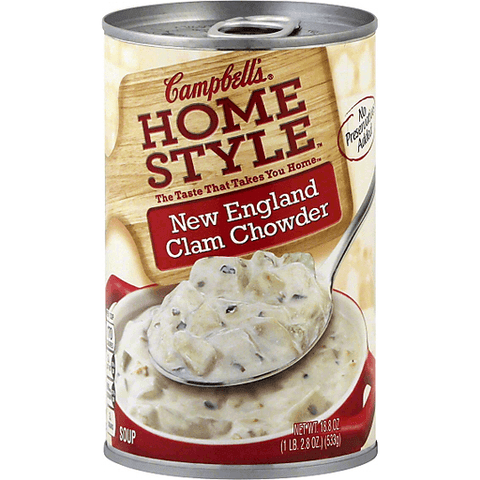 campbell's homestyle clam chowder 530gr