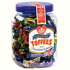 walkers toffee assorted & eclair 450gr jar