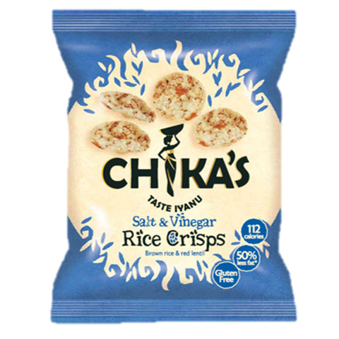 chikas sea salt & vinegar rice crisps 25gr (UK)