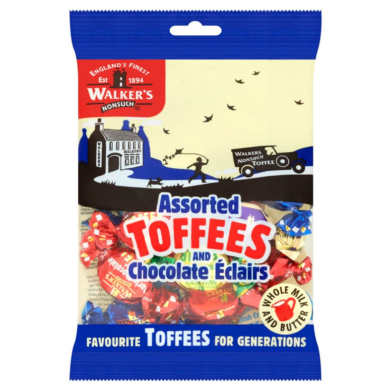 walkers assorted toffee 150gr