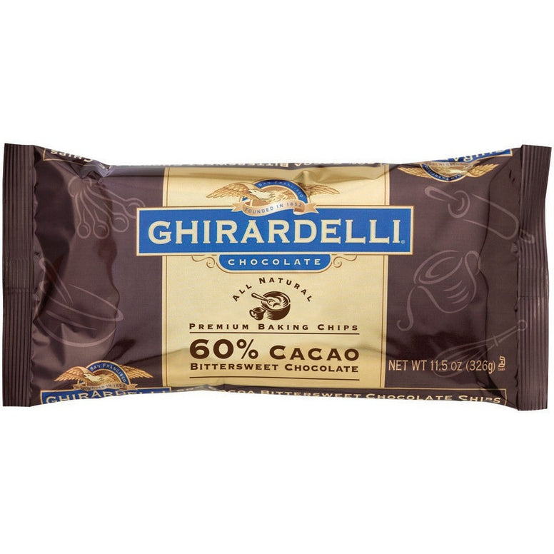 Ghirardelli 60% Cacao Bitter Sweet Chips (285gr)