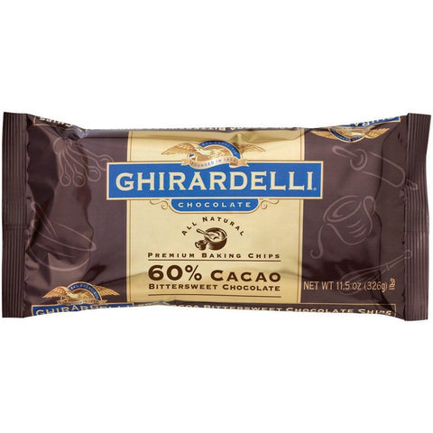 Ghirardelli 60% Cacao Bitter Sweet Chips (560gr)