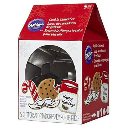 Wilton® 5-Pc. Christmas Cookies For Santa Metal Cookie Cutter Set