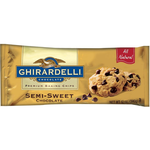 Ghirardelli Semi Sweet Chocolate Chips (340gr)