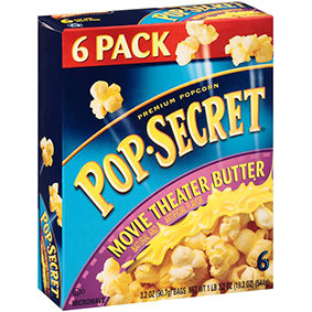 Pop Secret Movie Theater 6 Pk (540gr)