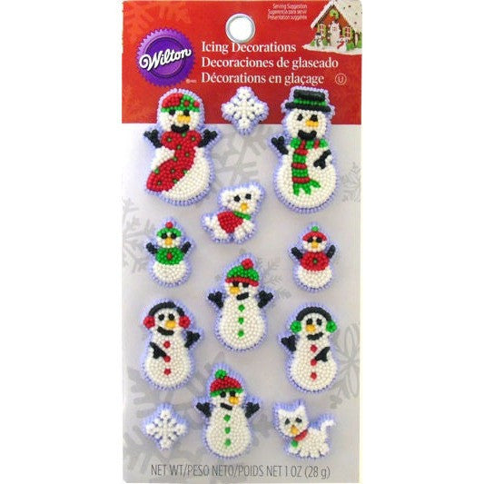 Wilton Snowman Family Icing Decoration