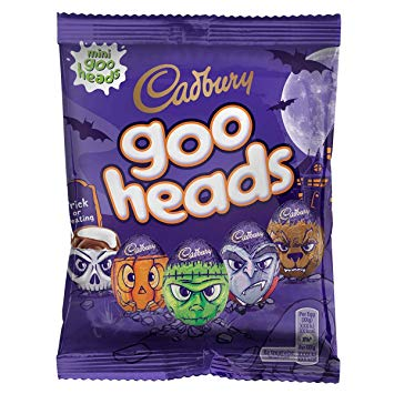 cadbury goo heads mini 90gr