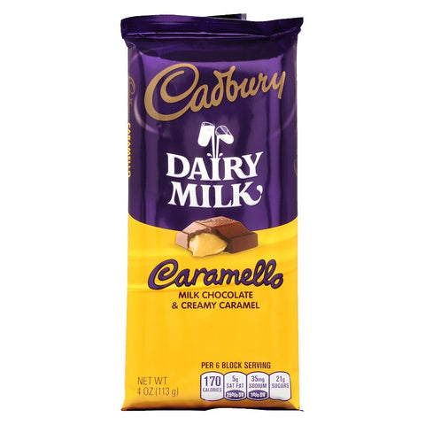 cadbury caramello bar USA 110gr