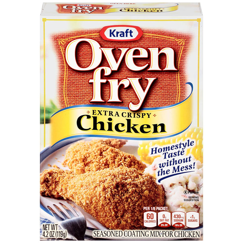 oven fry mix extra crispy chicken 120gr