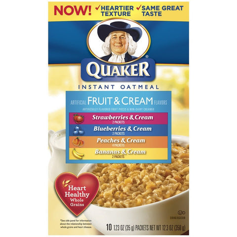 Quaker Oats Fruits & Cream